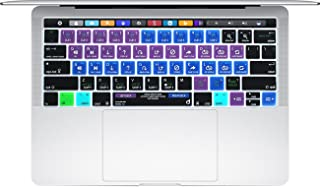 "Masino Silicone Keyboard Cover Ultra Thin Protective Skin for 13"" 15"" inch MacBook Pro with Touch Bar (A1989/A1706 & A1990/A1707) 2016 2017 2018 Released (Keyboard Cover, Shortcut- Serato DJ)"