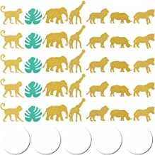 ABOOFAN 100 peças Hawaiian Jungle Theme Monstera Animal Creative Confetti Decorations Paper Scatters Confetti Decor para f...