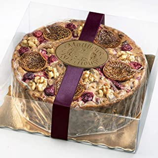 Matthews 1812 House Kentucky Bourbon Fig Fruitcake- 3 Pound Hand Decorated Ring- Kentucky Bourbon, Fig, Cranberries and Walnuts in a Clear Gift Box with Ribbon. No Candied Fruits. All Natural