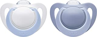 NUK Newborn Orthodontic Pacifiers, Boy, 0-2 Months, 2-Pack