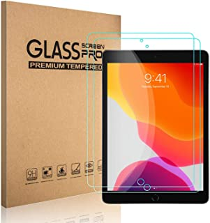 Ezavan [2 Pack Screen Protector for iPad 10.2 2019 (7th Generation), [Premium Tempered Glass Film] [Bubble Free] [High Definition] [Scratch-Resistant]