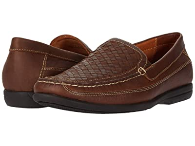 Johnston & Murphy Locklin Woven Venetian (Tan Oiled Full Grain) Men