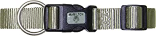 Hamilton 1-Inch Adjustable Dog Collar, Large, Fits 18-Inch by 26-Inch with Brushed Hardware Ring, Sage