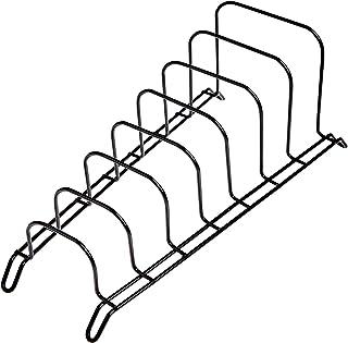 JD Europe - Soporte para cacerola, organizador, soporte para 7 secciones. negro