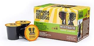 Westrock Coffee Company, Rwanda Select Reserve, Single Serve Coffee Cup, Dark Roasted, 12 Count