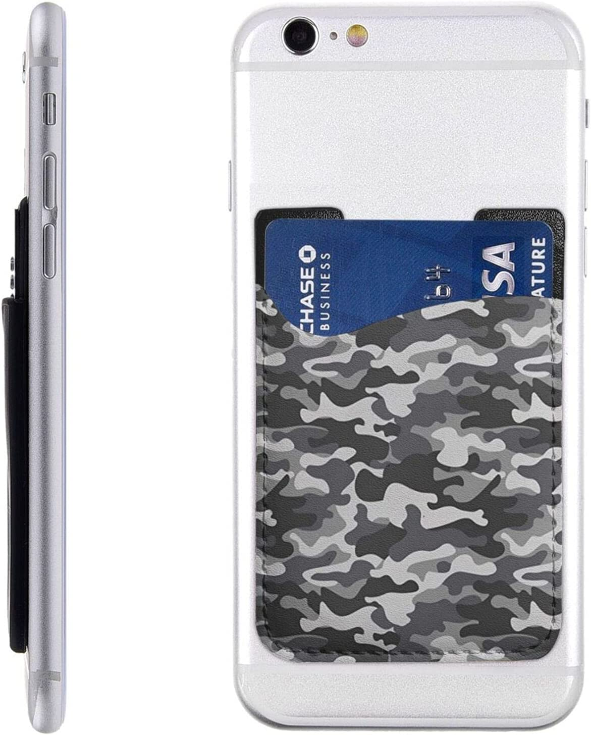 Abstract Camouflage Limited time sale Phone Card Holder On Cell Albuquerque Mall Stick W