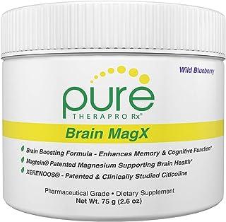 Brain MagX - Wild Blueberry 30 Servings   Nootropic Brain Boosting Formula Containing: Magtein, Xerenoos (Citicoline) & Hu...