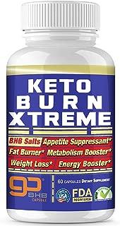 Keto Pills Advanced Xtreme Weight Loss 800 mg Pure BHB Salts Exogenous Ketones Fast Fat Burner Ketosis Boost Supplement Extreme Burn Appetite suppressant Women & Men Capsules + Free Keto Snacks ebook