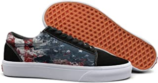 KKLDFD American Flag All National Flags Of The Nations With Names Mens Anti-fur Low Top Campus Shoes