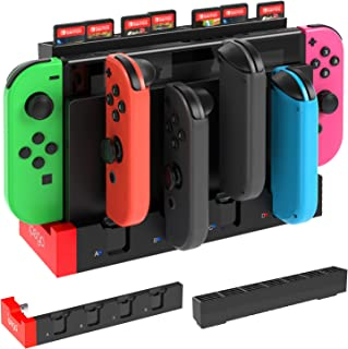 JoyCon Charging Dock and Game Card Storage for Nintendo Switch