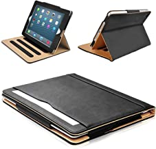 """MOFRED Black & Tan Apple iPad Air (Launched November 2013) Leather Case-MOFRED- Executive Multi Function Leather Standby Case for Apple New iPad Air with Built-in magnet for Sleep & Awake Feature -- Independently Recommended by """"The Daily Telegraph"""" as #1 iPad Air Case!"""