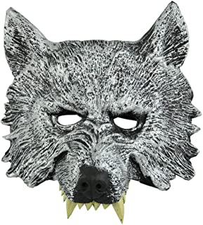 Wolf Head Mask Werewolf Animal Masquerade Halloween Cosplay Costume Party Props