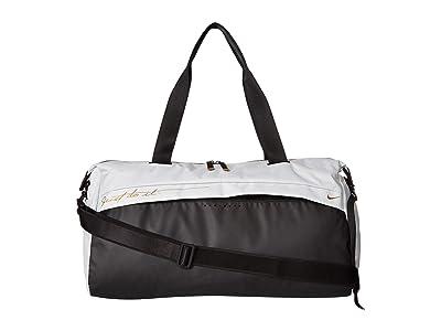 Nike Radiate Graphic Training Club Bag (Light Silver/Black/Metallic Gold) Duffel Bags
