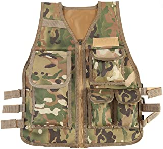 Children Tactical Vest Nylon Shooting Hunting Molle Clothes CS Game Field Combat Training Protective Vest