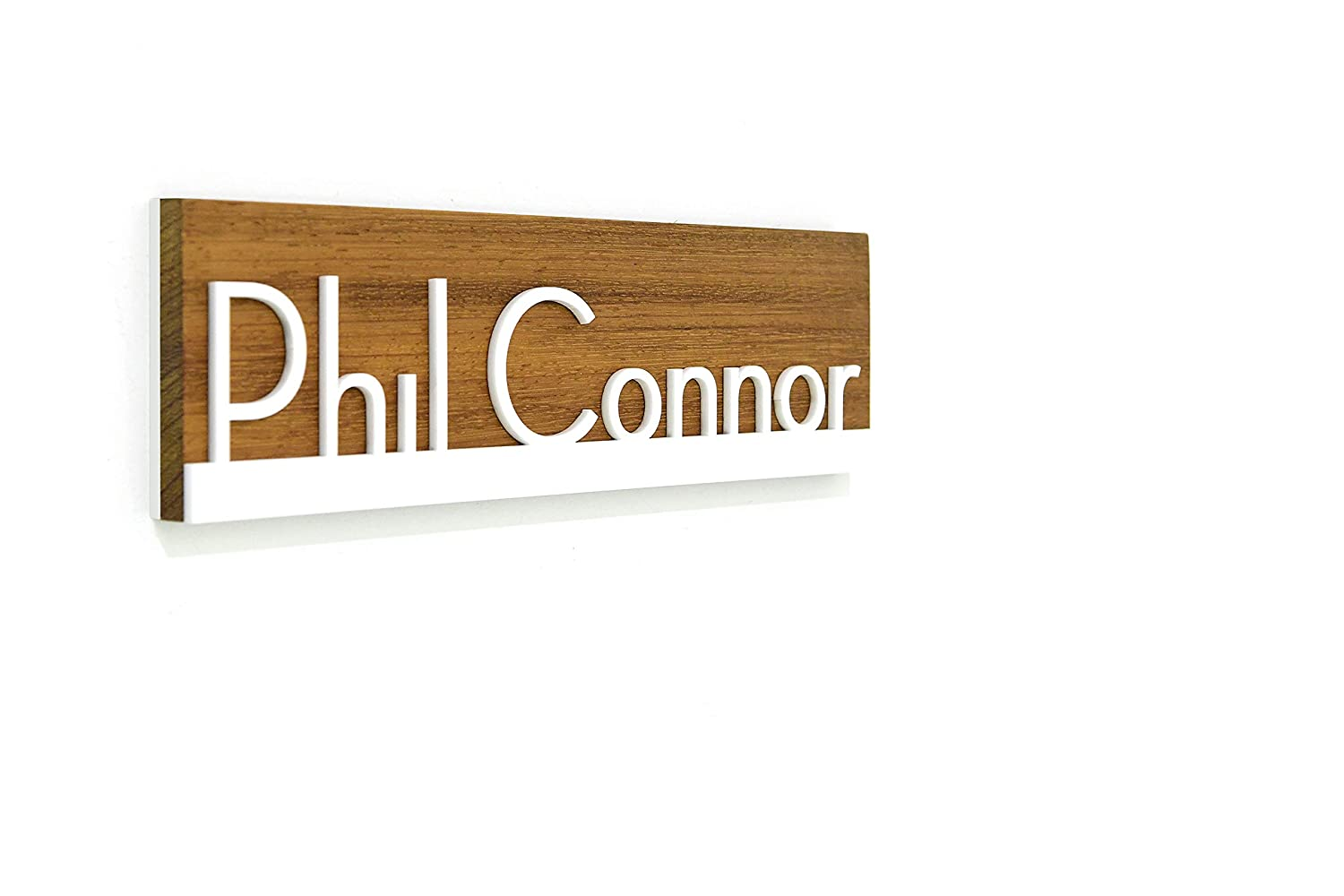 Modern Office Door Name Plate - and White Wood sale Africa Solid Teak Max 79% OFF