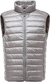Mannen Mouwloos Jas Winter Ultralight Wit Eend Down Vest Mannelijke Slim Vest Mens Winddicht Warm Vest Onderhoud (Kleur: Z...