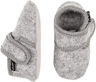 Eco Kids Wool-Leather Soft Sole Unisex-Boy-Girl Indoor Booties-Slippers-First Shoes (9 Colors-6Mo.-4Yrs)