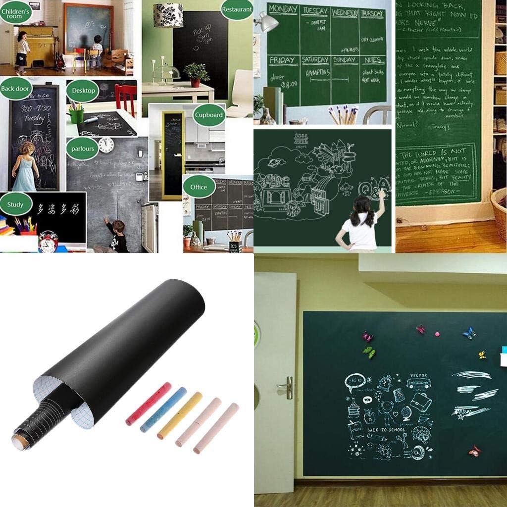 45x100cm Noir Bonarty Tableau Noir Autocollant Autoadh/ésif Tableau Ardoise Mural en Rouleau pour La Maison L/École Le Bureau 60 X 200Cm