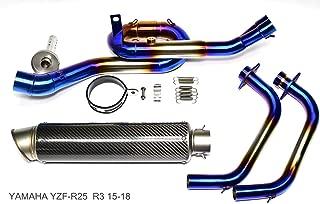 YAMAHA YZF-R25 YZF-R3 R-25 R-315-18トルク強化型 トルネード フルエキ ヘキサゴン カウル エキパイ スリップオン マフラー(BLUEステン)