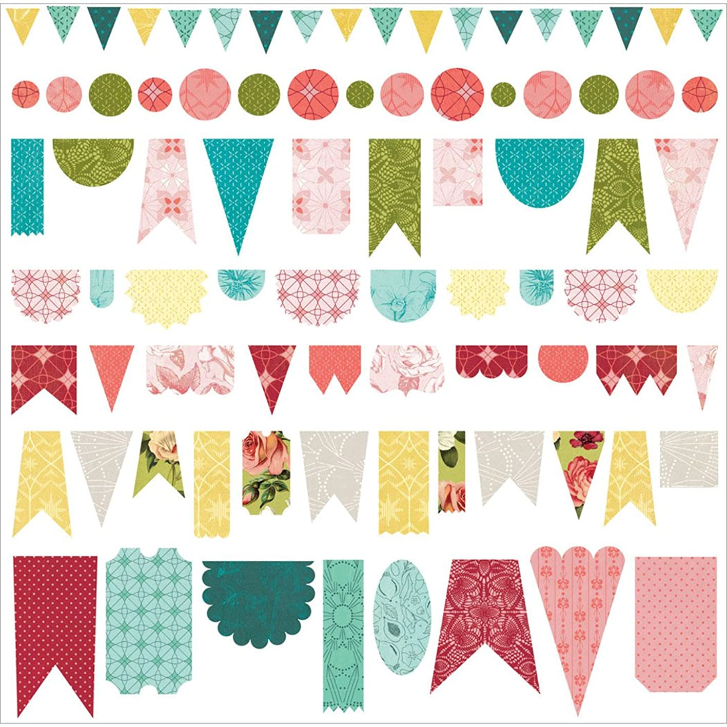 BasicGrey Tea Garden Banner Cardstock Stickers, 12 x 12 fveswkjasuj481