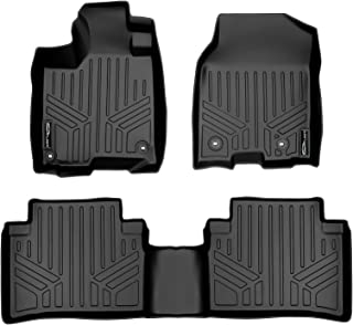 SMARTLINER Floor Mats 2 Row Liner Set Black for 2013-2018 Acura RDX with 4-Way Front Passenger Seat (No Technology Package)
