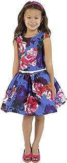 6959361bdd4 Kids Dream Big Girls Royal Blue Floral Mikado Junior Bridesmaid Dress 8-14