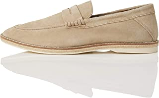 Marca Amazon - find. Jute Sole Soft Leather - Mocasines Hombre