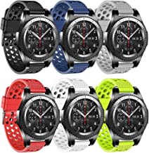 22mm Watch Band Compatible Samsung Gear S3 Frontier Bands/S3 Classic Band/Galaxy Watch 46mm/Moto 360 2nd Gen 46mm/ Silicone Material