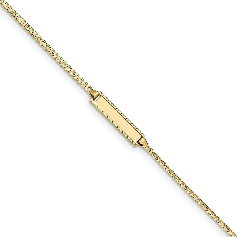 10k Flat Curb Link ID Bracelet