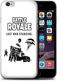 Phone Case for Apple iPhone 6+/Plus 5.5 FN Battle Royale Last Man Standing Design Transparent Clear Ultra Slim Thin Hard Back Cover