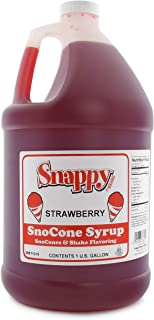 Snappy Popcorn Snappy Snow Conce Syrup strawberry, 128 Fl Oz