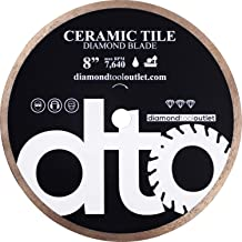 dto TWC08H 8-Inch Heavy-Duty Tile Continuous Rim Diamond Blade for Ceramic Tile, 5/8-Inch Arbor, Wet Cutting, 7640 Max. RPM