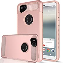 Google Pixel 2 Case with HD Screen Protector,AnoKe[Prism Series] Heavy Duty Dual Layer Protective Hybrid Armor Defender Case for Google Pixel 2 TQW Rose Gold