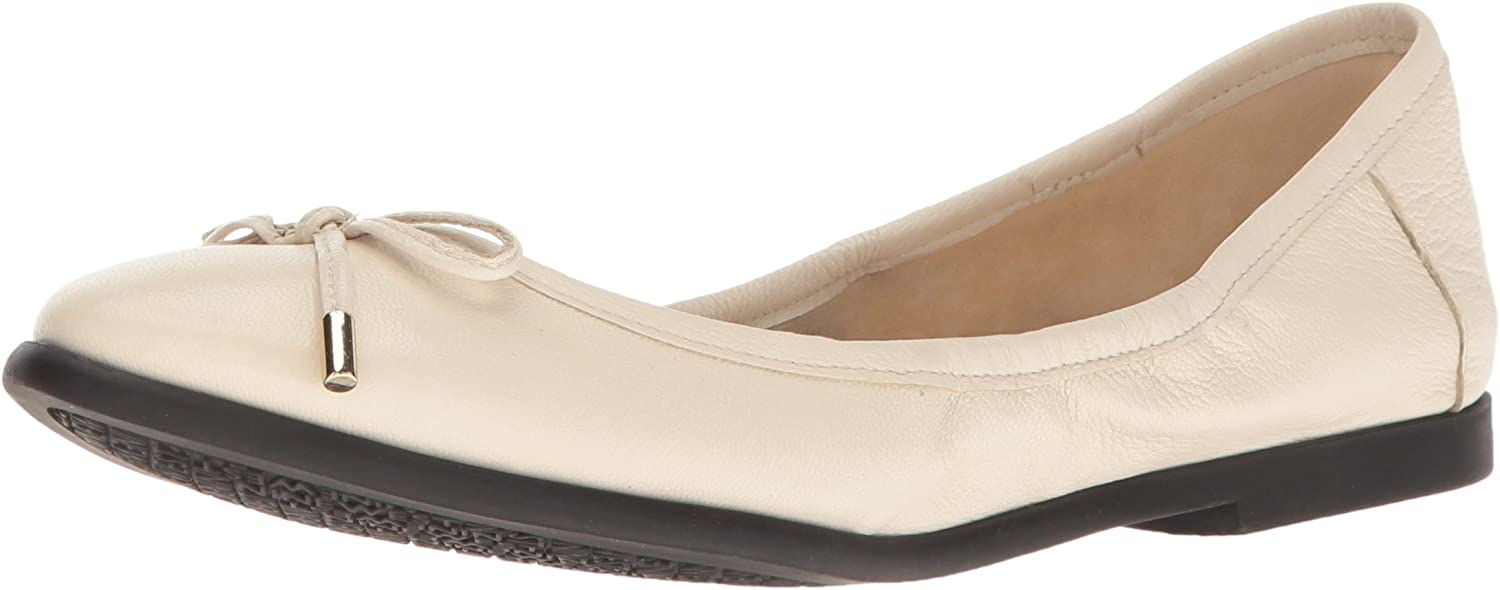 Nine West Womens Quinney Leather Ballet Flat