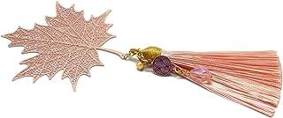Segnalibro fogli di libri nappa perla acero oro rosa ottone resina regali personalizzati regalo di natale anniversario cer...