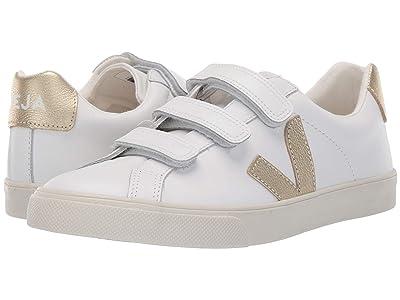 VEJA 3-Lock Logo (Extra White/Gold Leather) Athletic Shoes