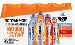 BODYARMOR LYTE Sports Drink Variety Pack,Blueberry Pomegranate, Orange Citrus,Berry Punch, Peach Mango (16oz, 20 pk.)