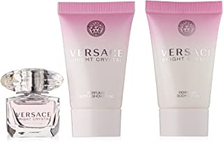 Versace Bright Crystal 3 Pieces Mini Set For Women - 1 EDT 5 ml +25 ml Shower Gel +25 ml Body Lotion