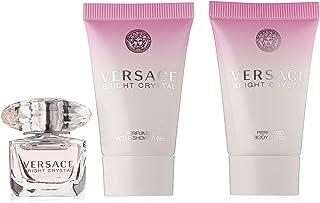 Versace - Regalo de cristal brillante de juego de: 5ml edt + 25ml loción corporal perfumada + 25ml gel de ducha perfumado