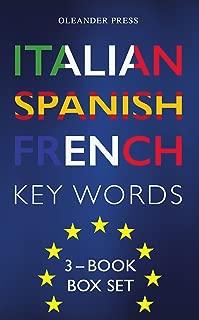 Italian Spanish French Key Words - 3 Book Box Set