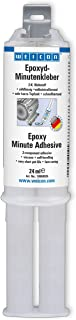 WEICON Epoxy Minute Adhesive 24 ml, clear 2 Components Adhesive for Metal, Wood, Stone, Plastic,Glass and Ceramic GRP