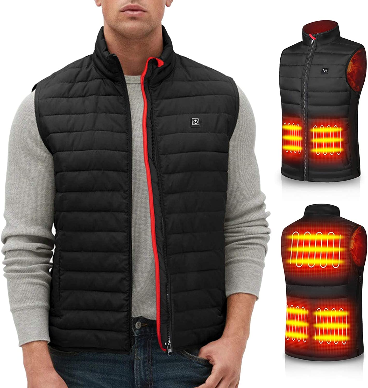 Heated Vest for Men Women Max 88% OFF Heating battery Winter At the price of surprise jacket coat