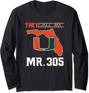 Miami Hurricanes Mr. 305 Long Sleeve T-Shirt - Apparel