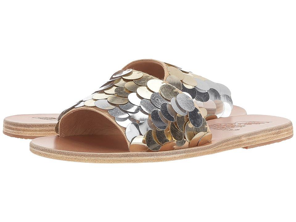 Ancient Greek Sandals Taygete (Silver/Platinum Vachetta/Sequins) Women