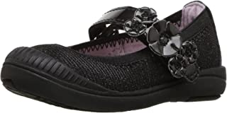 Stride Rite Girls' Layla Mary Jane Flat, Black, 7.5 Medium US Toddler