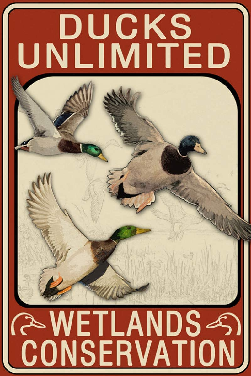 New Metal Tin Sign Ducks Unlimited Metal Tin Sign for Wall Decor 8x12 Inch