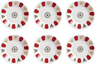 Topkapi–Set de 6Posavasos de Porcelana para Vasos de té Turco té Cristal Clásico de Color Rojo, 11,2cm de diámetro, 6Unidades