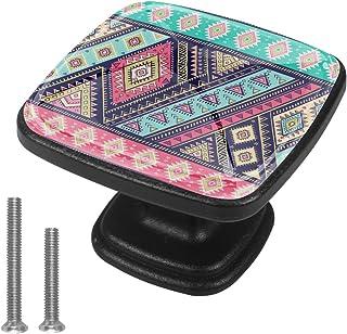 Tapis indien motif décoratif paisley 4 PCS Tiroir de Porte Poignée, Bouton de Meubles, Boutons de Tiroir, Boutons de Port...