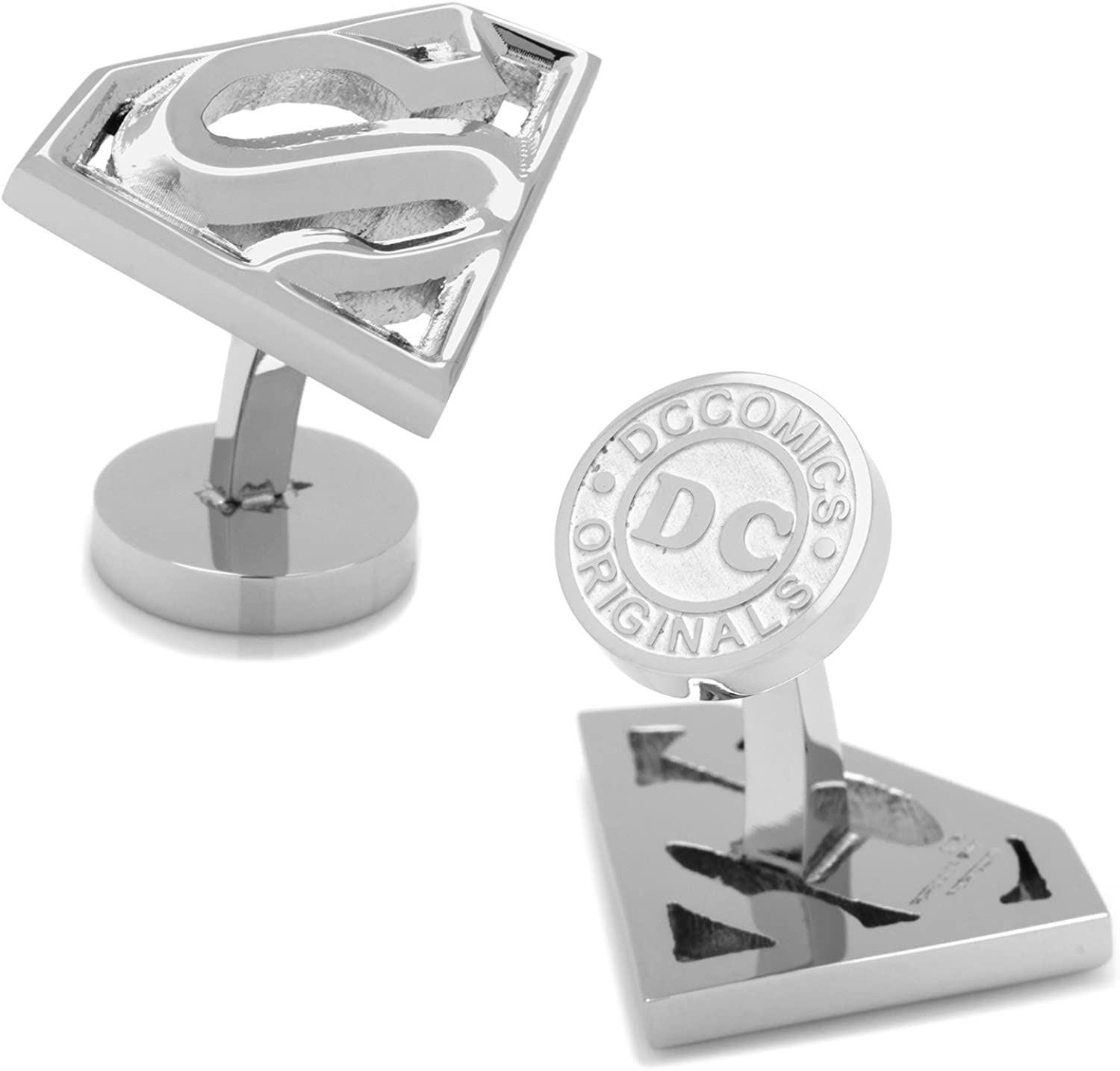 DC Comics Stainless Steel Superman Cufflinks, Officially Licensed