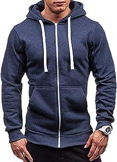 Frecoccialo Felpe con Cappuccio da Uomo Felpa con Cappuccio Slim Fit Outwear Maglione Caldo Jacket Giacche Sportive da Uomo